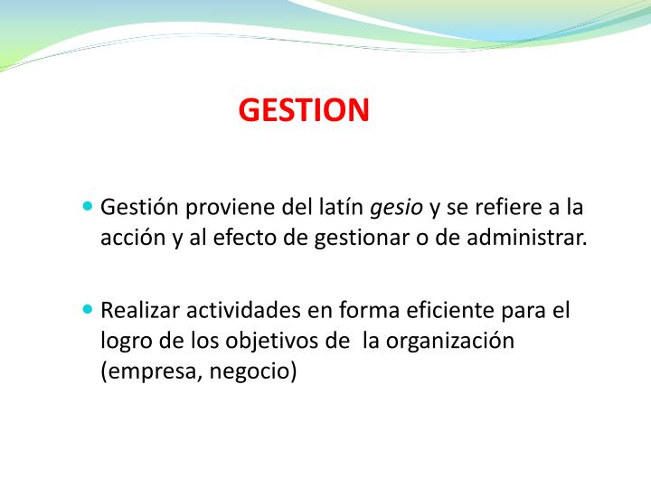 GESTION