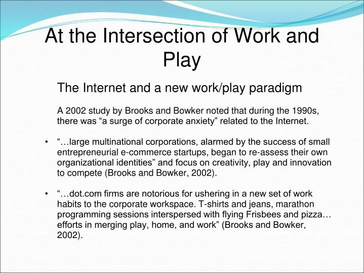 At the Intersection of Work and Play
