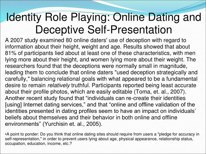 Identity Role Playing: Online Dating and Deceptive Self-Presentation