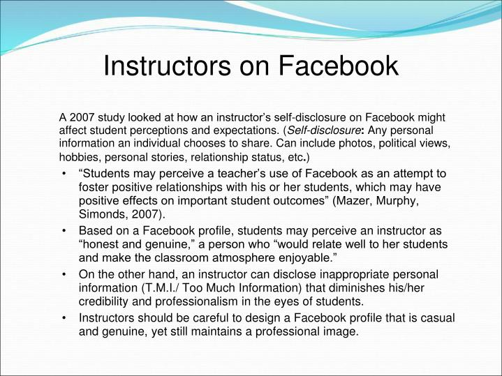 Instructors on Facebook
