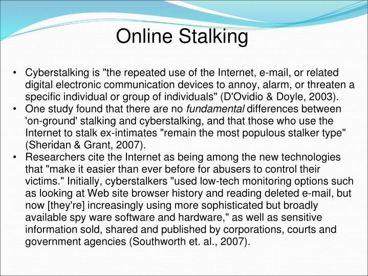 Online Stalking