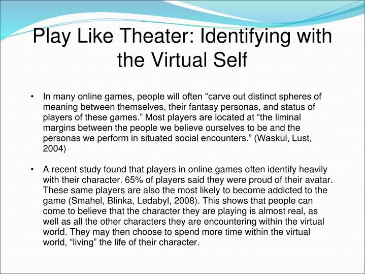 Play Like Theater: Identifying with the Virtual Self