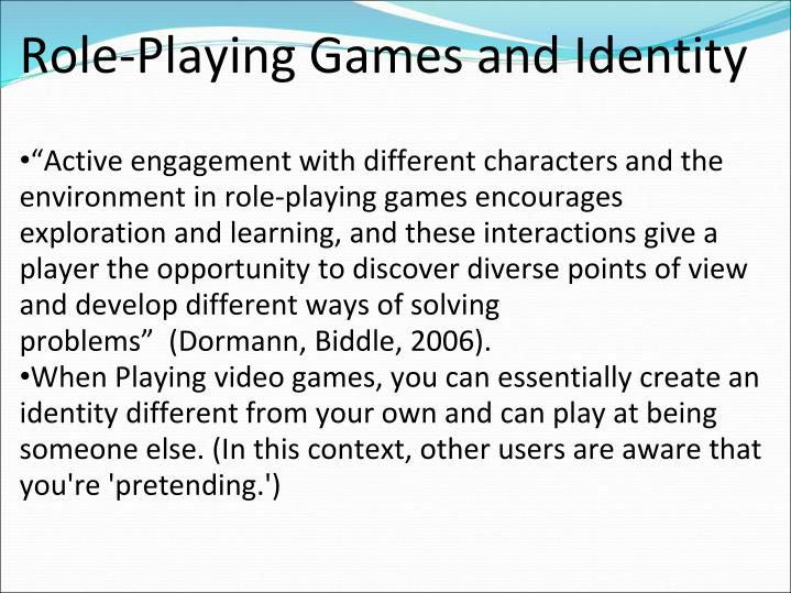 Role-Playing Games and Identity