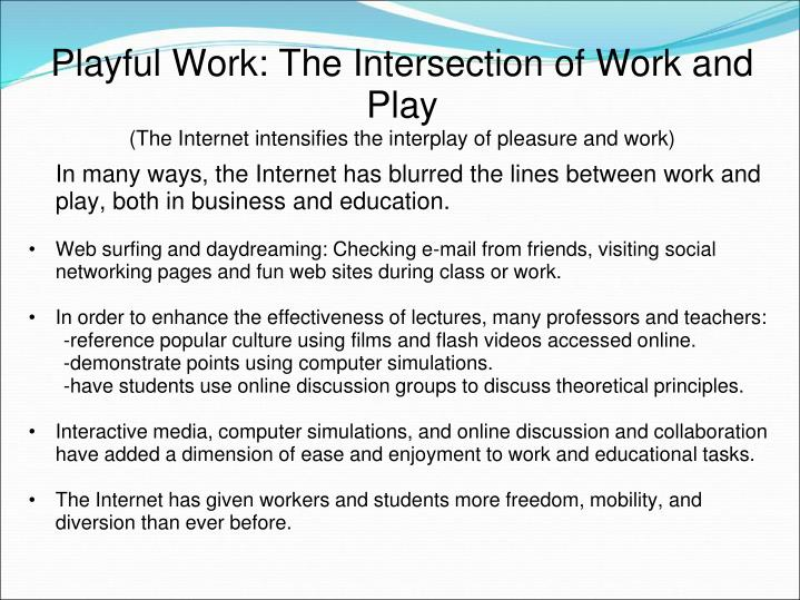 Playful Work: The Intersection of Work and Play