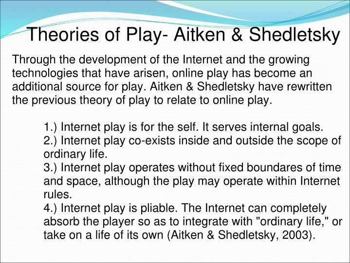 Theories of Play- Aitken & Shedletsky