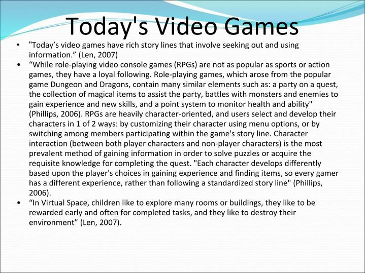 Today's Video Games