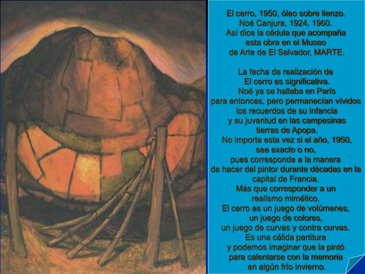 El cerro, 1950, óleo sobre lienzo.