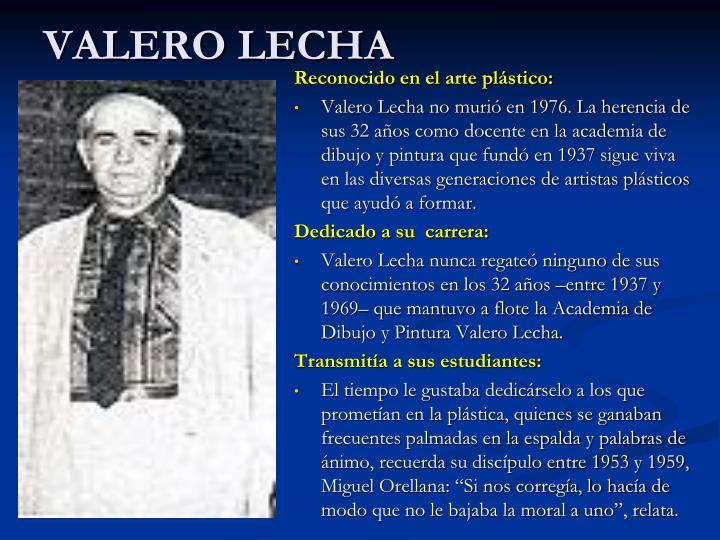VALERO LECHA
