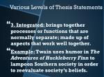 various levels of thesis statements2