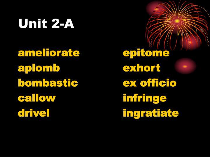 Unit 2-A