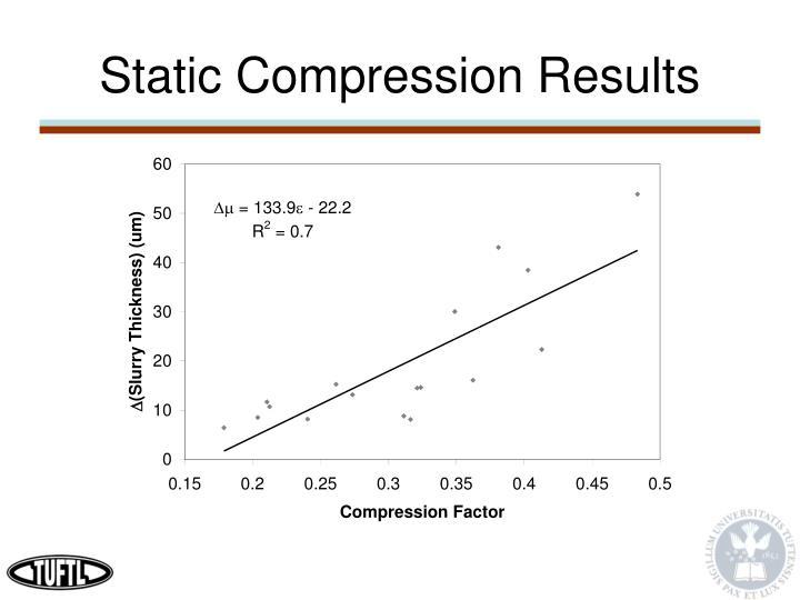Static Compression Results
