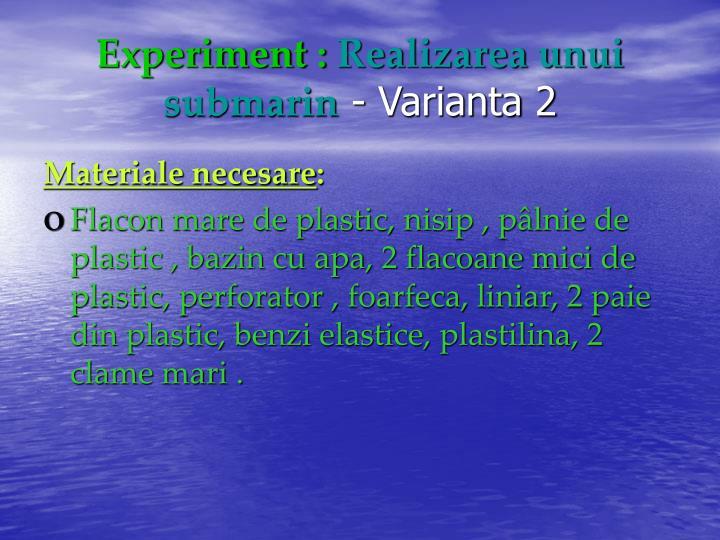 Experiment :