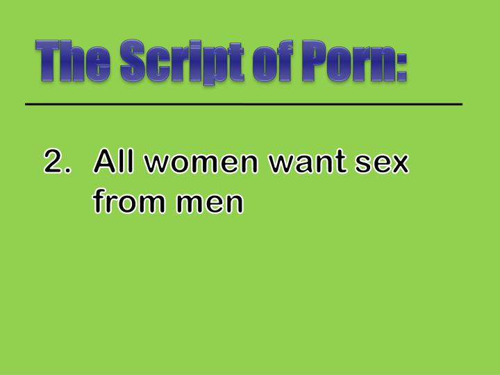 The Script of Porn: