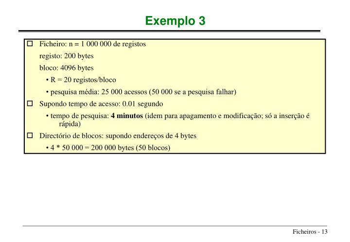 Ficheiro: n = 1 000 000 de registos