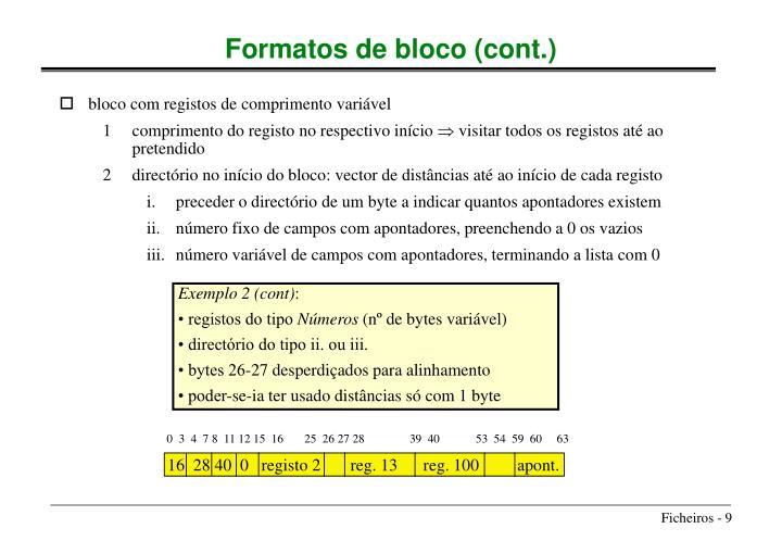 bloco com registos de comprimento variável