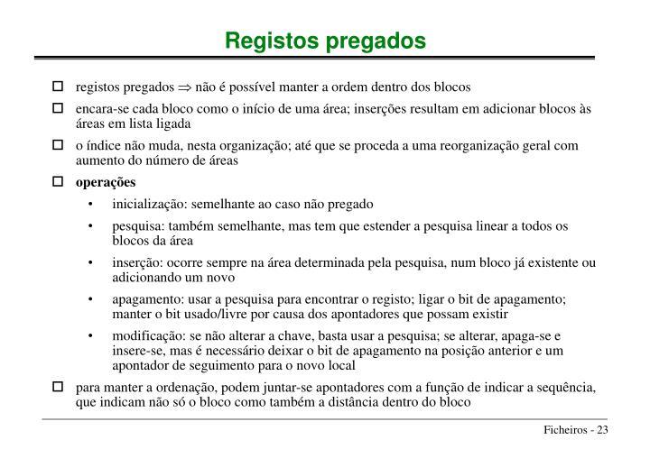 registos pregados