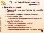 7 5 uso do qualificador const com apontadores1
