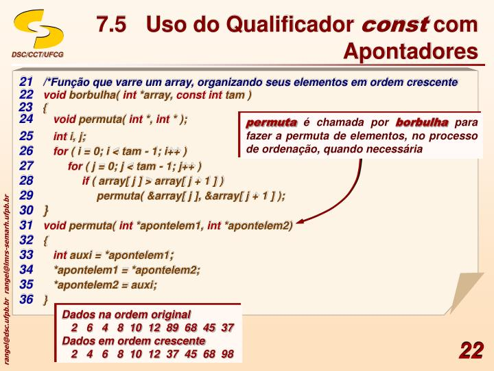 7.5Uso do Qualificador