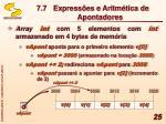 7 7 express es e aritm tica de apontadores1