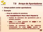7 9 arrays de apontadores