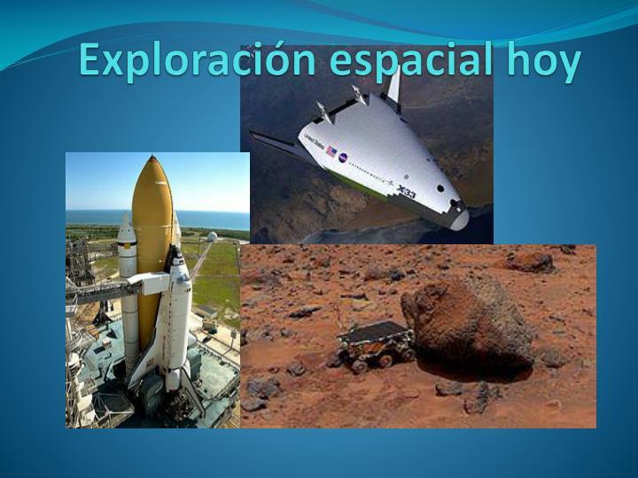 Exploración espacial hoy