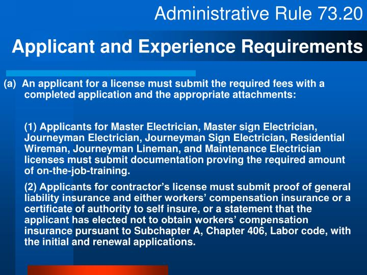 Ppt Tdlr Sample Ce Electrician Law Amp Rules Powerpoint