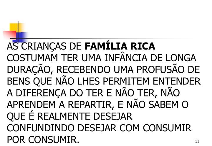 AS CRIANÇAS DE
