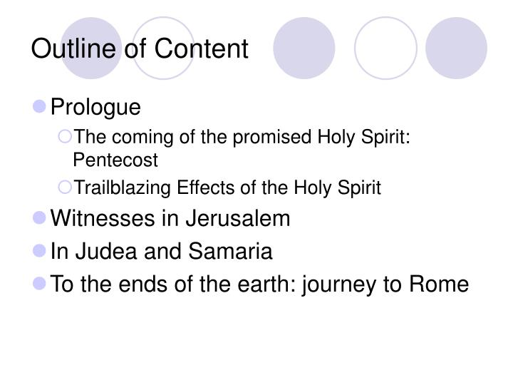 Outline of Content