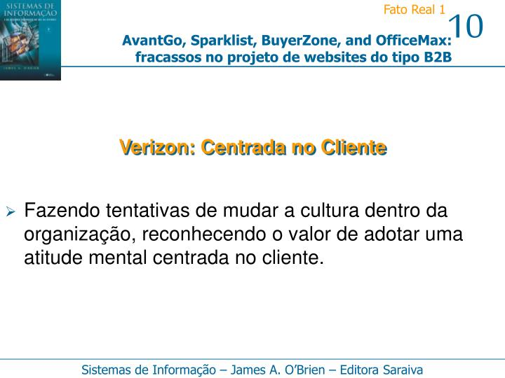 Verizon: Centrada no Cliente