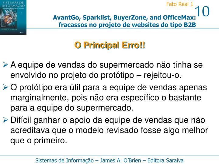 O Principal Erro!!