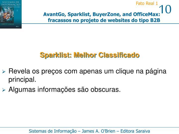 Sparklist: Melhor Classificado