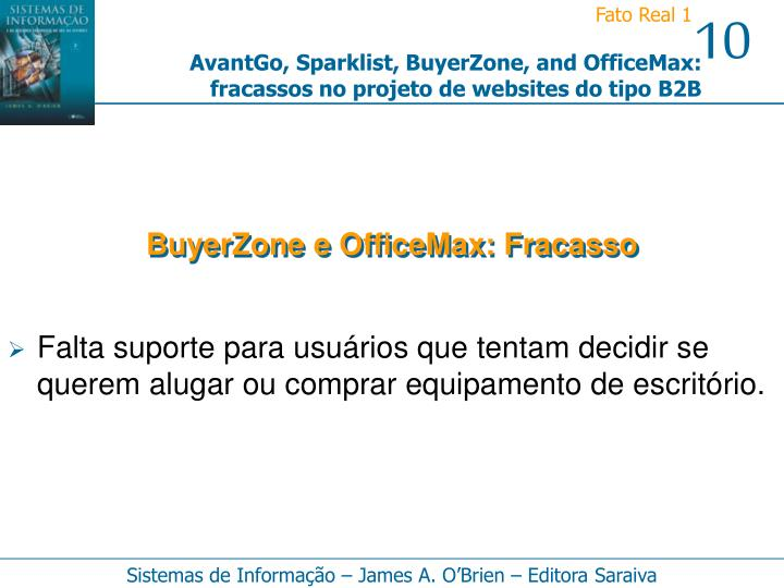 BuyerZone e OfficeMax: Fracasso