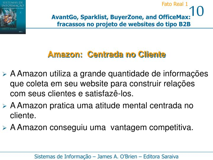 Amazon:  Centrada no Cliente