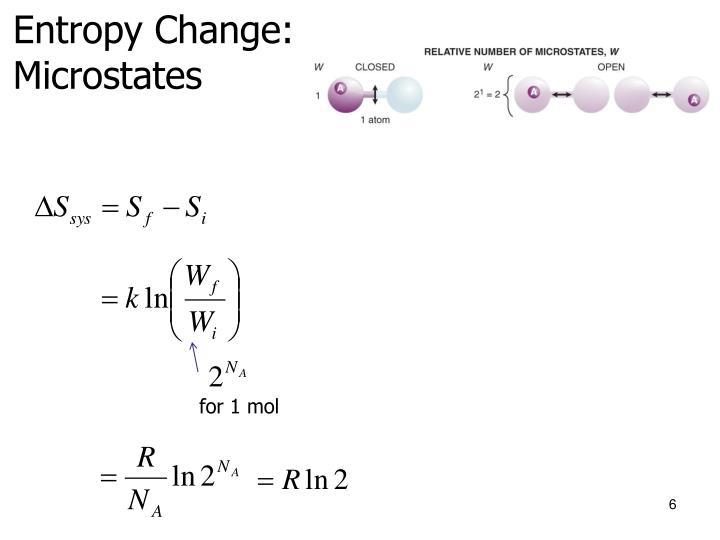 Entropy Change: Microstates