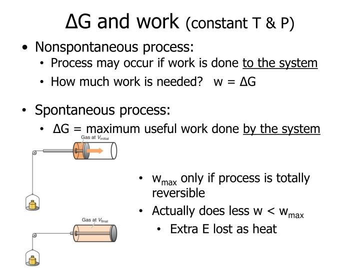 ∆G and work
