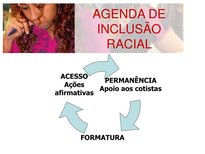 AGENDA DE INCLUSÃO RACIAL
