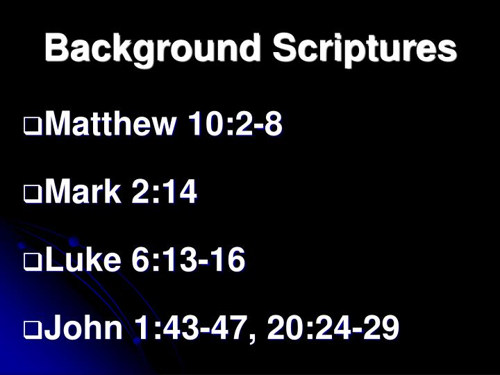 Background Scriptures