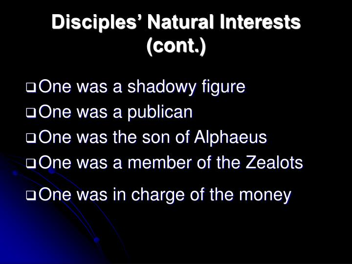 Disciples' Natural