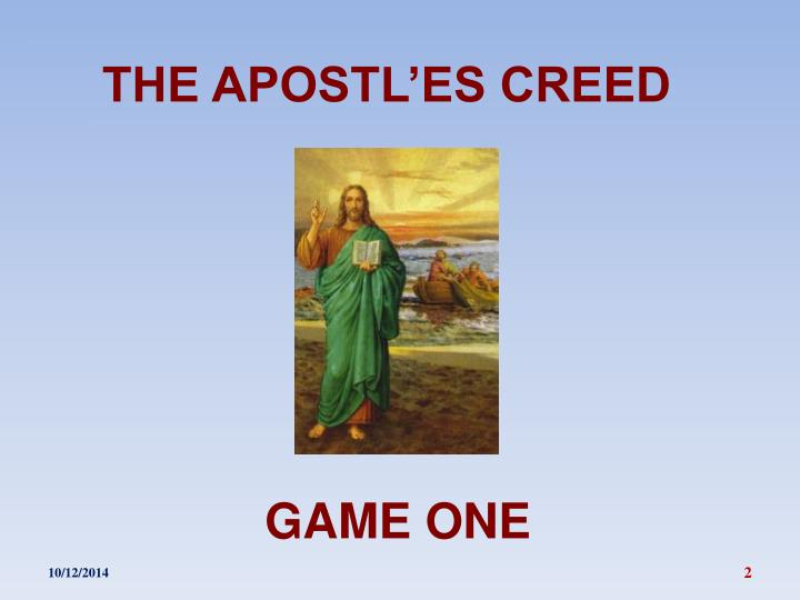 The apostl es creed