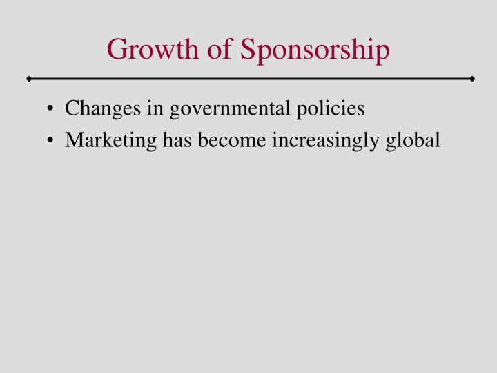 Growth of Sponsorship