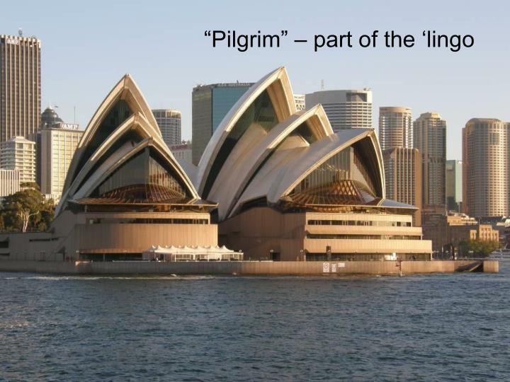 """""""Pilgrim"""" – part of the 'lingo"""
