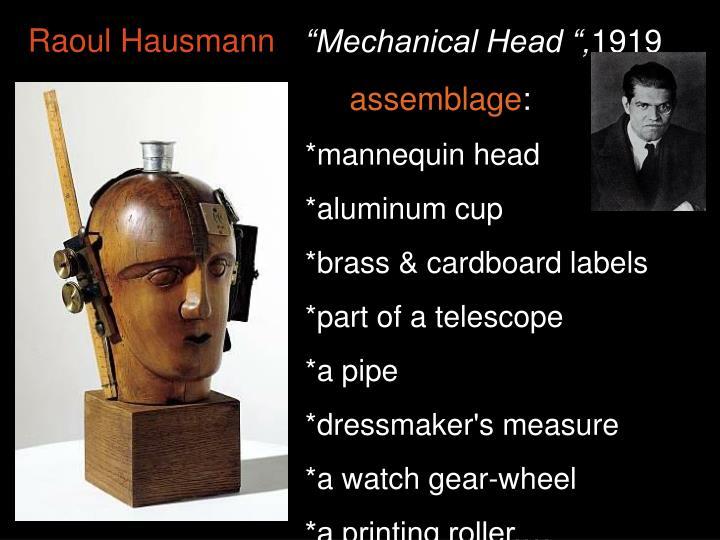 """Mechanical Head "","