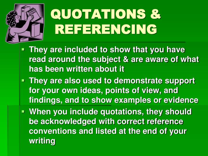 QUOTATIONS & REFERENCING