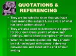 quotations referencing