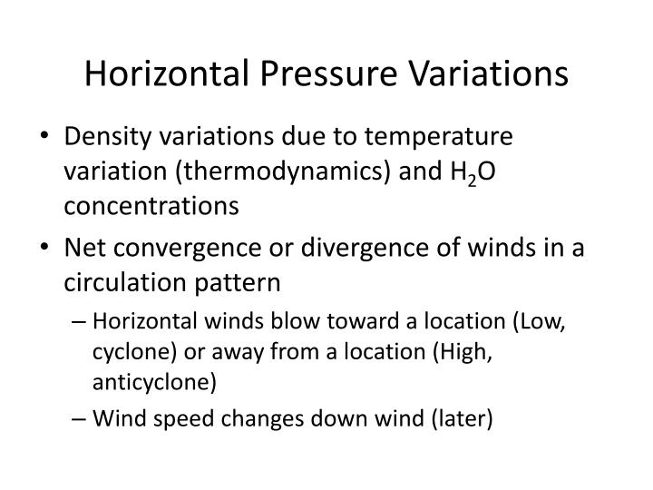 Horizontal Pressure Variations