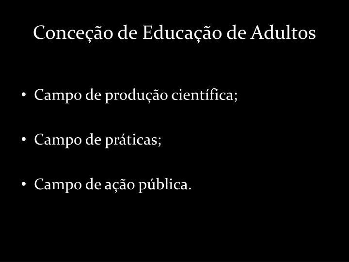 Conceção de Educação de Adultos