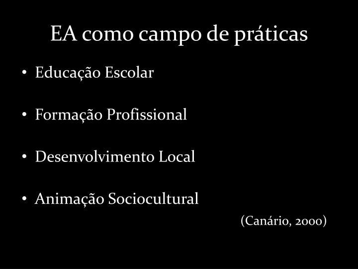 EA como campo de práticas
