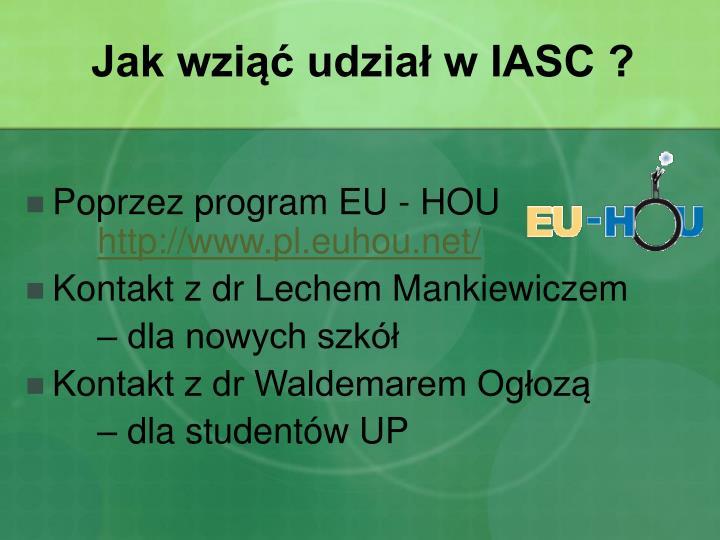 Jak wziąć udział w IASC ?