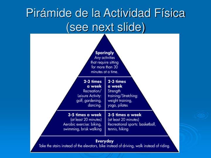 Pirámide de la Actividad Física (see next slide)