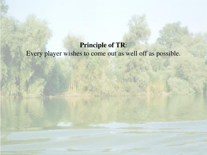 Principle of TR